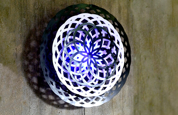Mandala-Lasercut Algorithmic Lamp
